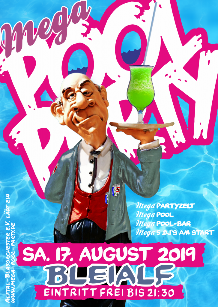 Mega-Pool-Party 2019 Plakat